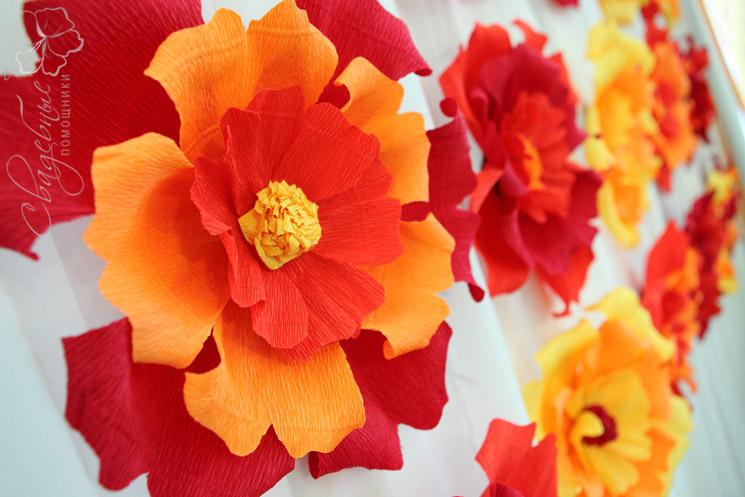 Цветы из бумаги для оформления своими руками шаблоны